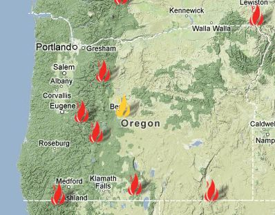 Oregon Wildfires Map Oregon Fire Map ~ EXODOINVEST